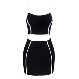 $enCountryForm.capitalKeyWord UK - Women Suits Elegant Black Chic Gothic Office Lady Hot Summer 2019 Mini Skirt Aline Casual Vest Backless Female Fashion Suits
