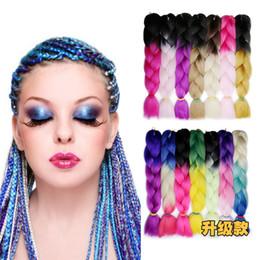 Big Braided Wigs Australia - Manufacturer's Cross-Border Source Black African Wigs Received High Temperature Silk Braid Gradually Coloured Chemical Fiber Big Braid