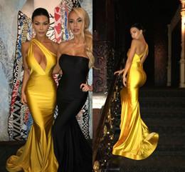 $enCountryForm.capitalKeyWord NZ - Sexy One Shoulder Yellow Prom Dresses Long Formal Evening Party Gowns Mermaid Oscar Red Carpet Celebrity Dresses Vestidos de fiesta largos
