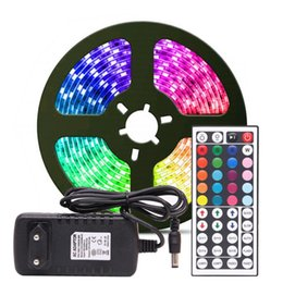 smd adapter UK - RGB LED Strip Light RGB 5050 SMD 2835 Flexible Ribbon fita led light strip RGB 5M 10M Tape Diode DC 12V Remote Control Adapter