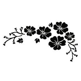 $enCountryForm.capitalKeyWord Australia - 15*8cm Waterproof Flower Pattern Delicate Car Sticker Beautiful Motorcycle SUVs Bumper Car Window Laptop Car Stylings