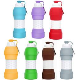 Mug foods online shopping - 580ML oz BPA Free Collapsible Silicone Water Bottle Retractable Folding Travel Drinking Sport Water Bottle Mugs FDA Food Grade