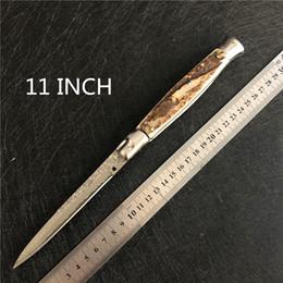 Couteaux Italie -11 pouces couteau - outils de camping en plein air couteau pliant mafia Damas en Solde