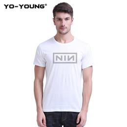 $enCountryForm.capitalKeyWord Australia - Yo-Young Men T-Shirts Captain Marvel Carol Danvers NIN Letters Print 100% 180g Combed Cotton Casual Unisex Tee Shirts Customized