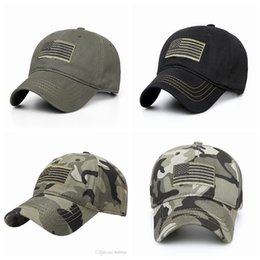 TacTical haTs online shopping - Outdoor Sport Cycling Running Hats Flag Embroidery Hat Flag Low Profile Tactical Hats Embroidered Baseball Cap LJJZ489