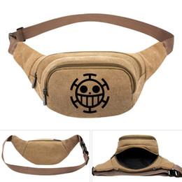 $enCountryForm.capitalKeyWord UK - Trafalgar Law waistpacks One piece waist bag Quality cartoon belt side packs Khaki color canvas bum pocket Outdoor sport waistbag