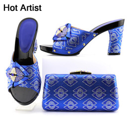 Summer Italian Australia - Designer Hot Artist New Arrival Italian Shoes And Purse Set High Quality Summer Pumps Shoes And Bag Set For Wedding Size 37-43 Tx-8565
