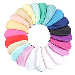 Wholesale New Pure Silk Sleep Eye Mask Padded Shade Cover Travel Relax Aid Blindfold Colors hot