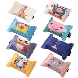 $enCountryForm.capitalKeyWord Australia - Cartoon Cloth Car Seat Back Hanging Storage Tissue Case Box Container Towel Napkin Papers Bag Holder Box Case