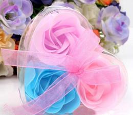 $enCountryForm.capitalKeyWord Australia - set pvc box Packed Heart Shape Handmade Rose Soap Petal Simulation Flower Paper Flower Soap Valentines Day Birthday Party Gifts