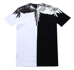Yellow feather wings online shopping - Dear2019 Feather Yin yang Mb Colour Drip Rainbow Wing Lovers Dress Short Sleeve T Pity Men And Women Fund