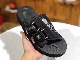 Wholesale New Arrived Top Quality Masterminds x Suicoke CLOTX Summer Trip Fest Black silk Sole Sandal Slides Slippers