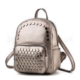 8b489f444ed3 HigH scHool small backpacks online shopping - Rivet Backpack Fashion Men women  solid colors Shoulder Bag