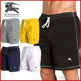 Large Jersey Size NZ - Beach short men leisure elastic waist polyester shorts pants fast drying m-3xL large size men's luxury designer works, full discount!