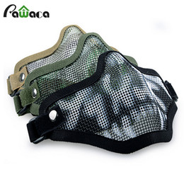 $enCountryForm.capitalKeyWord Australia - Boutique Tactical Hunting Mental Wire Half Mask Outdoor Bicycle Riding Outdoor Field CS Mesh Airsoft Mask Paintball Resistant
