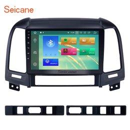 Touch Screen Car Stereo Gps Bluetooth Australia - Android 8.1 HD 1024*600 touch screen Car Stereo GPS Navigation for 2006-2012 Hyundai SANTA FE with Bluetooth USB WIFI support OBD2 car dvd