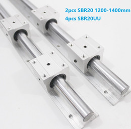 rails for cnc NZ - 2pcs SBR20 1200mm 1300mm 1400mm support rail linear rail guide + 4pcs SBR20UU linear bearing blocks for CNC router parts