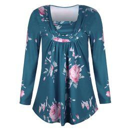 347b50e0b Nuevo patrón de manga larga jersey V plomo impresión vestido mujer  maternidad Tops lactancia ropa de enfermería
