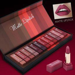Smooth lipStick online shopping - TEAYASON Waterproof Matte Lipstick Gloss Liquid Moisturizer Smooth Lip Stick Long Lasting Beauty Makeup Cosmetic kit