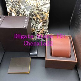 Color Leather Bags Australia - Best Quality Brown Color leathe Boxes Gift Box 1884 Watch Box Brochures Cards Black Wooden Box For Luxury Watch Includes Certificate New Bag