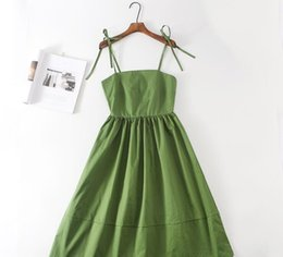 $enCountryForm.capitalKeyWord Australia - In the summer of 2019, the market exploded to wear the green lotus fairy super-fairy tie dress with a slim lady's sling skirt.