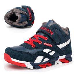 Boys Snow Shoes Australia - Boys Boots Winter Kids Snow Boots Sport Children Shoes For Boys Sneakers Fashion 2018 New Leather Child Shoes Size 28-39