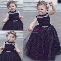 Images for lovely baby online shopping - Lovely Black Baby Girl Pageant Gowns Sparkly Sleeveless Flower Girl Dresses For Wedding Children First Communion Party Dress