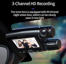 channel vision UK - Car DVR Camera Dash Cam WiFi GPS ADAS Dashcam Three Dual Channel Full HD 1080P Driving Recorder Motion Detection 4K Night Vision