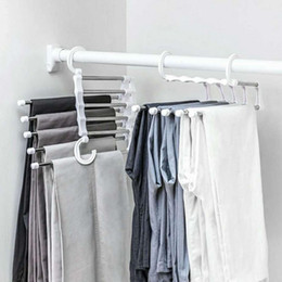 $enCountryForm.capitalKeyWord NZ - Drop ship 5 in 1 Multi-functional Pant Rack Shelves Space Safer Stainless Steel Magic Wardrobe Clothing Hangers For Clothes Rack