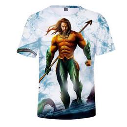 b0fa4a291 Hip Hop 3D Aquaman Arthur Curry Casual Harajuku Tshirt Women Men 2019  Fashion O-neck Short Sleeve Street T-shirts Plus Size 4XL