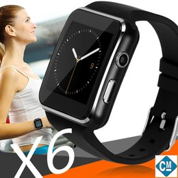 Smartwatch Bluetooth Smart Watch For Samsung Australia - X6 Smart Watches With Camera Touch Screen Support SIM TF Card Bluetooth Smartwatch For Iphone X Samsung Phone goophone with Retail Box