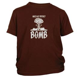 Sh Fashion UK - Kid's Nuclear Physics Is The Bomb T-Shirt Funny Atomic Science Tee Shirt FREE SH 3Men Women Unisex Fashion tshirt Free Shipping Funny