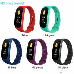 Portuguese Bracelets Australia - Smart Bracelet M5 Fitness Tracker Smart Watches with Heart Rate Colorful LCD Display For Phone PK Miband 3 for IOS Android Cellphones