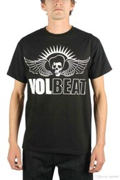 Wholesale Casual Fashion Volbeat White Skullbeat Outline Print T Shirt
