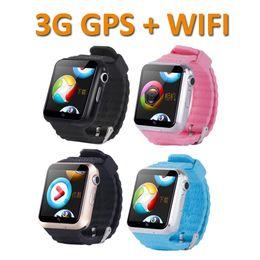 Kids Smart Watches Child Australia - V7W Kids Smart Watch 3G Wifi IP67 Waterproof Children baby GPS Swim phone SOS Call Location Device Tracker Kids Safe Anti-Lost Monitor