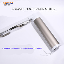 video curtains UK - Z-Wave plus Automatic Electric Curtain Motors opener operator driver for Smart Home Compatible with fibaro samsung smarthings