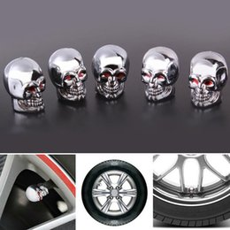 $enCountryForm.capitalKeyWord Australia - 5Pc Skull Tire Tyre Wheel Car Auto Valves Caps Dust Stem Cover Motocycle Bicycle