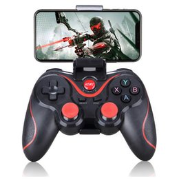 tablet wireless controller NZ - X3 Wireless Joystick Game Controller Bluetooth Gamepad For Android Mobile Phone Tablet PC TV Box Holder T3