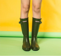 yellow rubber rain boots Australia - Hot Sale- Brand rainboots fashion Knee-high tall rain boots England style waterproof welly boots Rubber rainboots water shoes rainshoes