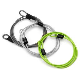 $enCountryForm.capitalKeyWord Australia - Cycling Lock Steel Wire Sport Security Loop Cable Lock Bicycle Bikes Scooter U-Lock 100cm x 2mm 3 Colors #191640