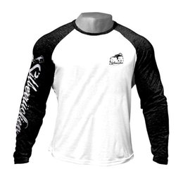 ExErcisE for slim online shopping - Thin Mens Printed Long Sleeve T Shirt Fashion Crewneck Gym Clothes Exercise Tees for Spring Autumn Fitness Training Tops