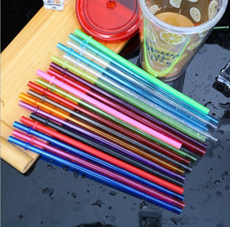 Green Plastic Straws Australia - 9inch Rainbow Colored Reusable Plastic Replacement Straws AS plastic drinking straws multi color for Mason Jar