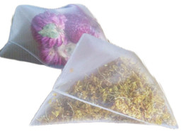 Empty tEa bags hEat sEal online shopping - 2019 Nylon Tea Filter Bag Transparent Bags Empty Pyramid Tea Bag Heat Sealed