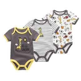 $enCountryForm.capitalKeyWord Australia - 3 Pcs lot Summer Girl Romper Cotton Jumpsuit Set Baby Boy Clothes Q190520
