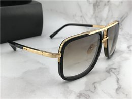 gradient blue glasses Australia - Wholesale-Luxury Square Pilot Sunglasses gold brown Gradient Titanium Designer Fashion Brand Drive Sun glass Eyewear Summer New with Box