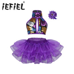 781ce000c427c Sequins Children Kids Girls Ballet Dance Leotard Tutu Dress for Ballet  Dancing Dancewear Gymnastic Stage Performance