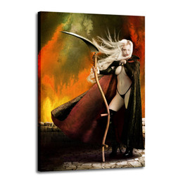 China Cartoon Art Lady Death ,Oil Painting Reproduction High Quality Giclee Print on Canvas Modern Home Art Decor 2577 suppliers
