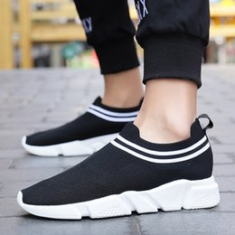$enCountryForm.capitalKeyWord Australia - MUQGEW striped shallow flats sneaker shoes for men New arrival mixed colors black and white flats sneaker large size loafers