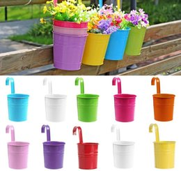 $enCountryForm.capitalKeyWord Australia - Colorful Hanging Flower Pot Hook Wall Pots Iron Flower Holder Balcony Garden Planter Home Decor Plant Pots Flower Holder Garden Supplies 111