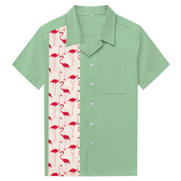 913d38956 XXl hawaiian shirts online shopping - Hot Sale Cotton Men Shirt Camisa  Social Masculina Pink Flamingo